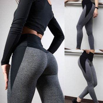 Seamless High Waist Yoga Leggings Tights Women Workout Breathable Fitness Clothing Black And Grey Training Pants Female image