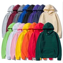 Hoodies Sweatshirts Tops Hip-Hop Black Pink Winter Fleece Male Casual Solid-Color Fashion
