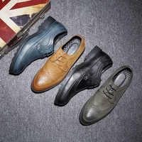 Misalwa ブランドプラスサイズ 37-48 ファッションメンズオックスフォード男性カジュアル革靴の男性ウェディングパーティー靴 2019 送料ドロップシッピング