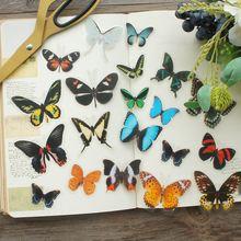 38 шт наклейки из ПВХ в виде лесных бабочек