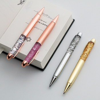 2020 new metal ballpoint pen crystal pen office signature pen advertising gift pen student school writing stationery new crystal ballpoint pen roller ball pen instead of fountain pen pencil box and bag brand gift stationery office school