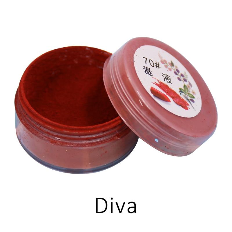 2020 Summer Hot Sexy 1g/bottle Diva Lip Gloss Cosmetic Pigment Amazing 11 Colors Makeup Lip Stick Powder Long Lasting