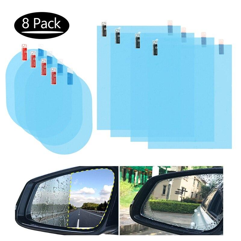 8 шт., Автомобильное зеркало заднего вида, Защитная прозрачная пленка, анти-туман, водонепроницаемые, непромокаемые боковые зеркала заднего ...
