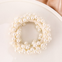 Fashion Woman Elegant Pearl Hair Ties Beads Girls Scrunchies Rubber Bands Ponytail Holders Hair Elastic Hair Bands Accessories 14 colors woman elegant pearl hair ties beads girls scrunchies rubber bands ponytail holders hair accessories elastic hair band