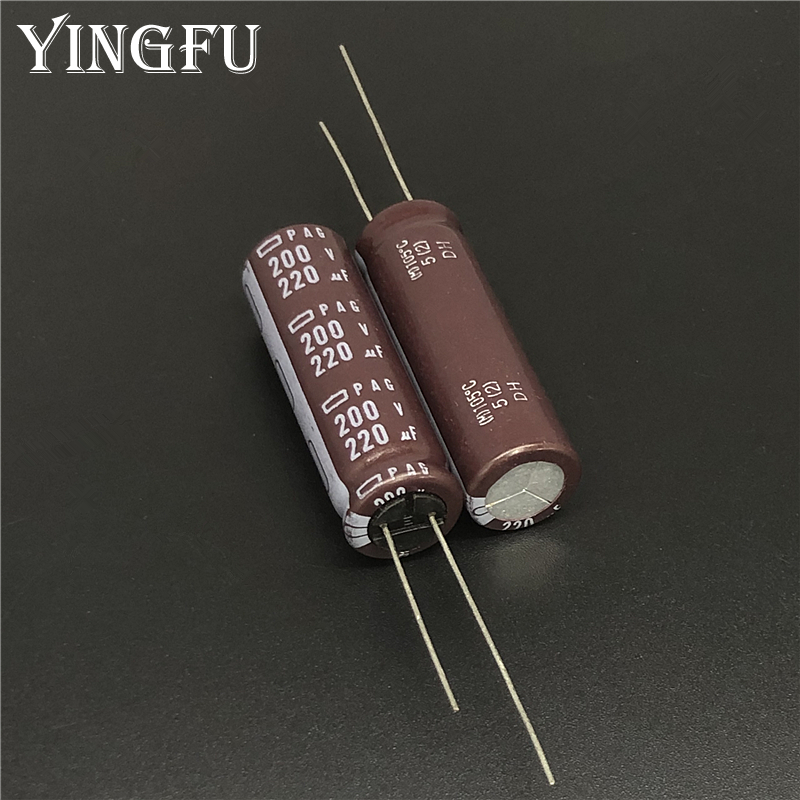 5pcs 220uF 200V NCC PAG Series 12.5x40mm High Ripple Current 200V220uF Aluminum Electrolytic Capacitor