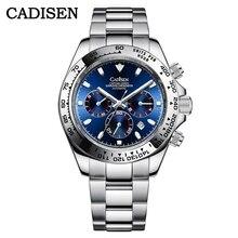 Nieuwe Cadisen Luxe Merk Mannen Horloges Keramiek Bezel Horloge Sport Waterdicht Horloge Week Datum Klok Montre Homme Automatique