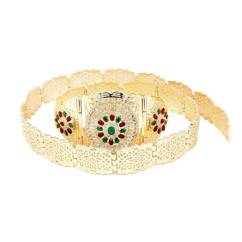 Cummerbunds 2019 Diamond Luxury Style Golden Elastic Women Wide Belt Glitter Buckle Waist Belt For Dress Ladies Waistbelt