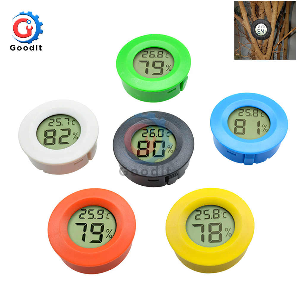 Mini LCD Digital Hygrometer Thermometer Fridge Freezer Tester Temperature Humidity Meter Detector Thermograph for Pet Auto Car