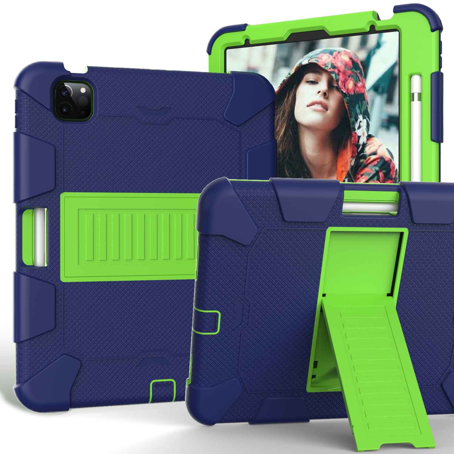 2 Black Kids Tablet Case for iPad Air 4 10 9 inch 2020 Heavy Duty Hybird Shockproof PC