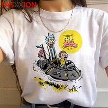 Rick and Morty Funny Cartoon Harajuku T Shirts Women Ricky N Morty Ullzang T-shirts Grunge 90s Tshir