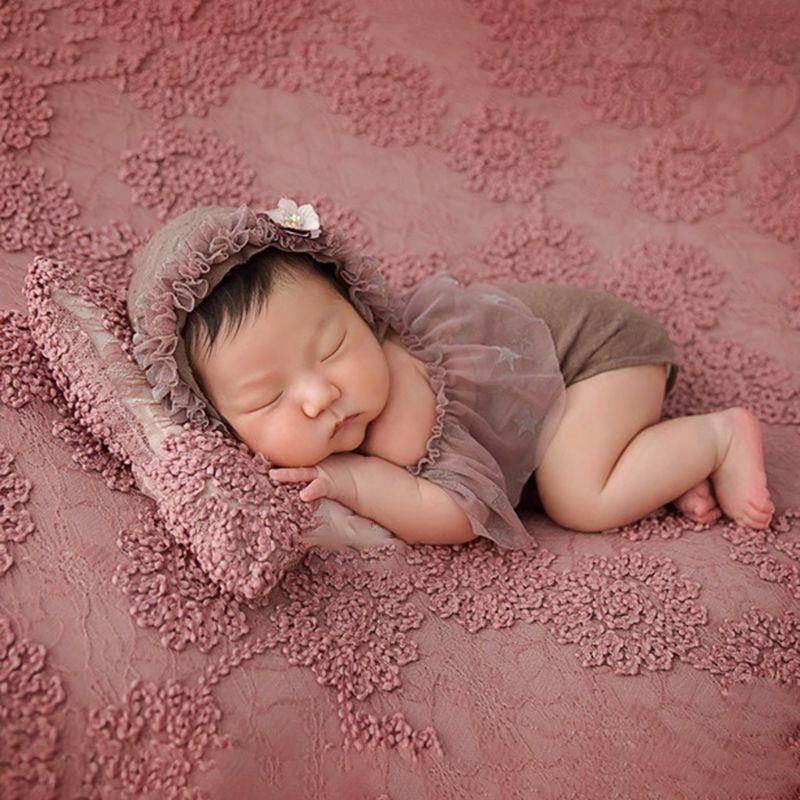 2019 2 adet/takım yenidoğan bebek fotoğraf sahne kıyafetler sarar şapka giysi Set bebekler dolunay fotoğraf aksesuarları