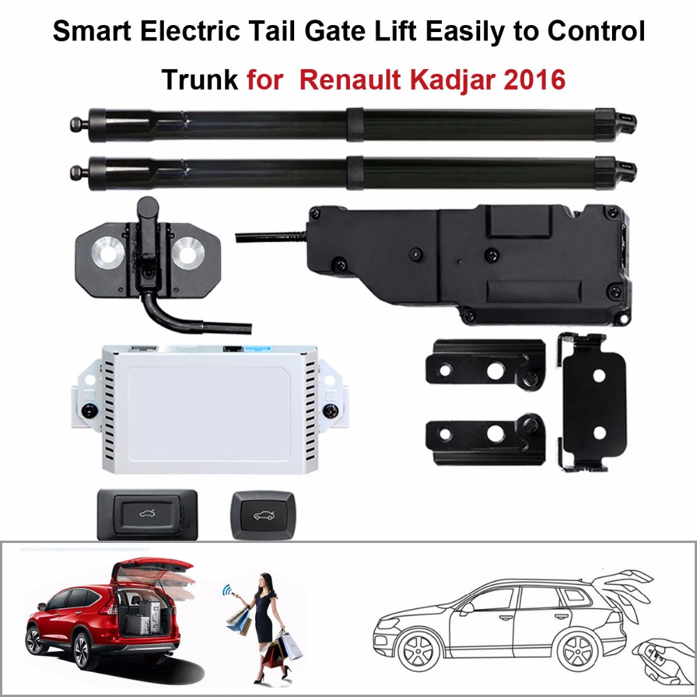 Car Smart Auto Electric Tail Gate Lift For Renault Kadjar 2016 Control Set Height Avoid Pinch With Latch