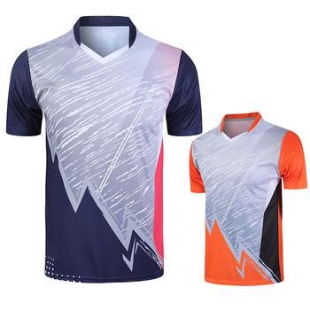 Nowe sportowe koszulki do badmintona koszulki do biegania mężczyźni kobiety fitness jogging koszulki koszulki do tenisa stołowego szybkoschnąca koszulka sportowa tanie i dobre opinie NAiMAi POLIESTER SHORT Szybkoschnące oddychająca Zapobiega marszczeniu Dobrze pasuje do rozmiaru wybierz swój normalny rozmiar