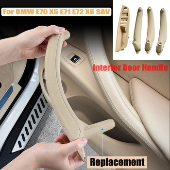Car Styling Right Left Inner Door Panel Handle Pull Trim Holder Auto Interior Accessories For BMW E70 X5 E71 E72 X6 SAV image
