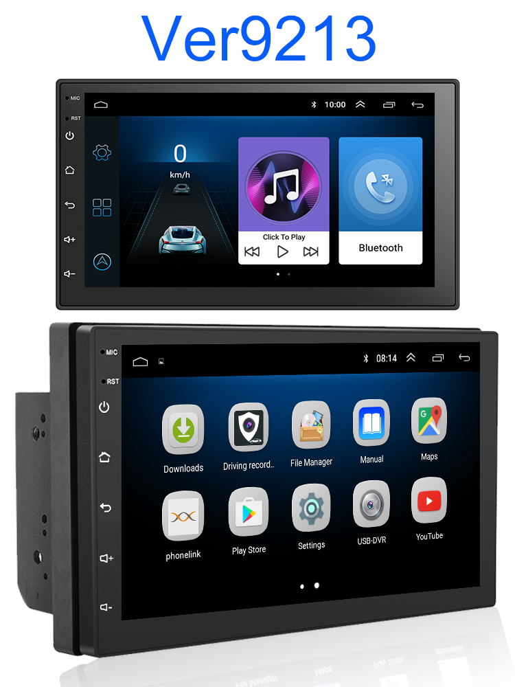 GPS Navigation Multimedia-Player Autoradio Stereo Bluetooth Touch Android 9.0 2 Din Rated