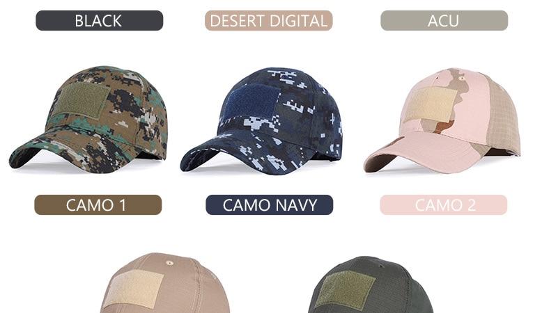 17 Colors Camo Men's gorras Baseball Cap Male Bone Masculino Dad Hat Trucker New Tactical Men's Cap Camouflage Snapback Hat 2020 6