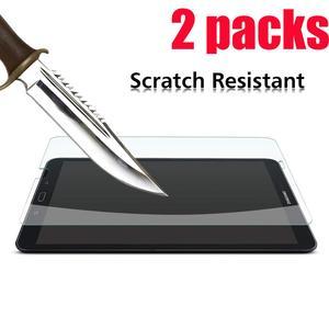 2 pacotes de vidro temperado protetor de tela para huawei mediapad t5 10 t3 9.6 8.0 7 protector protector 10.1 tablet tablet protetor de tela
