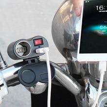 Usb power 12v-24v impermeável motocicleta/bicicleta isqueiro carregador soquete