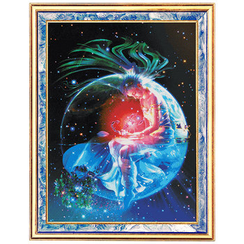Living Room Cross Stitch Kit Fishxx Dream Starry Sky 12 Constellation Oil Painting Full Frame Embroidery Home Painting Scorpio