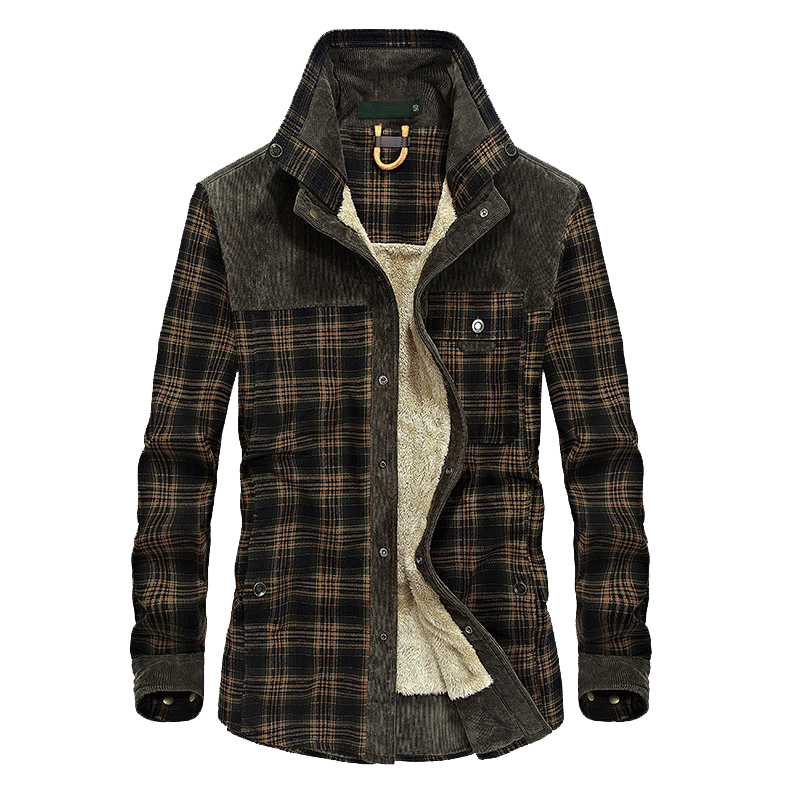 Mountainskin Men's Warm Jacket Fleece Thick Army  Coat Autumn Winter Jacket Men Slim Fit Clothing Mens Brand Clothing SA831 1
