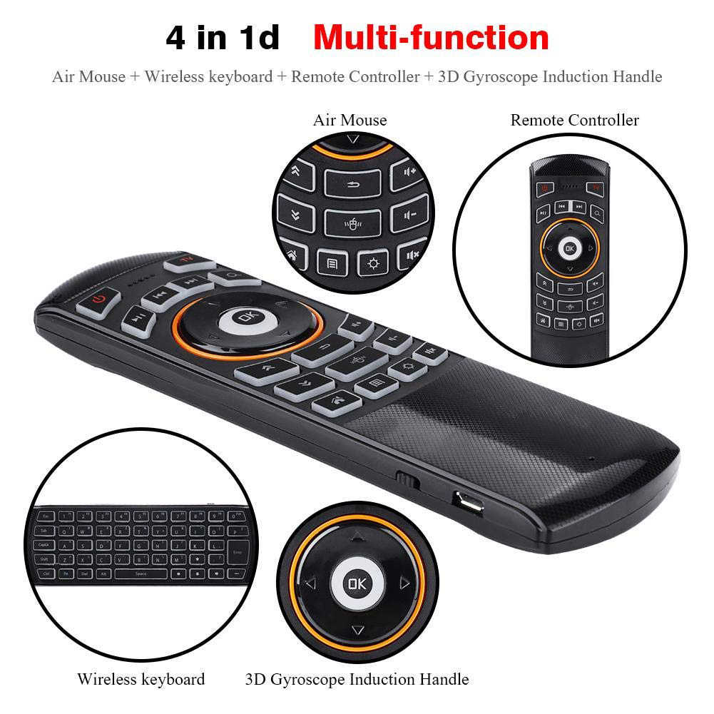 X6 2.4G Keyboard Portable IR Belajar untuk PC TV Remote Control Nirkabel Rechargeable Smart USB Sensitif Multifungsi