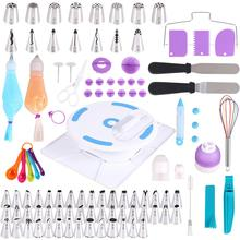 134Pcs/set Baking Tools Set Piping Nozzles Bags Cake Cutter Spatula Smoother Turntable Whisk Cake Decorating Tool Cake Tools