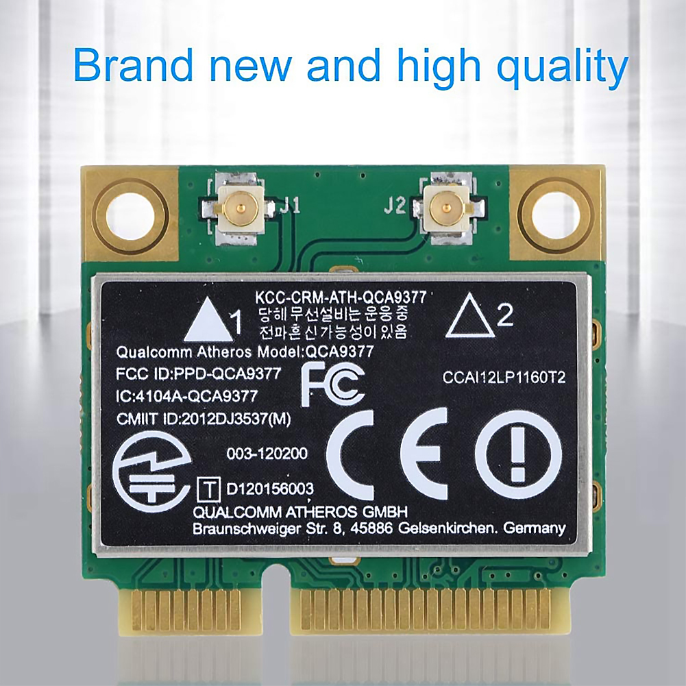 WIFI Card Atheros QCA9377 Wireless Dual Band 433Mbps WLAN 802.11ac 2.4G/5G Bluetooth 4.1 Mini PCI-E Network Adapter AW-CM251HMB 6