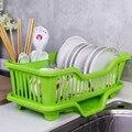Новая дешевая пластиковая посуда сушилка над раковиной самосливная кухня Однослойная маленькая посуда для хранения палочек для еды сушилк...