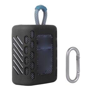 Image 2 - Coque peau de protection en Silicone coloré anti poussière avec mousqueton pour haut parleur Bluetooth JBL GO 3 Go3