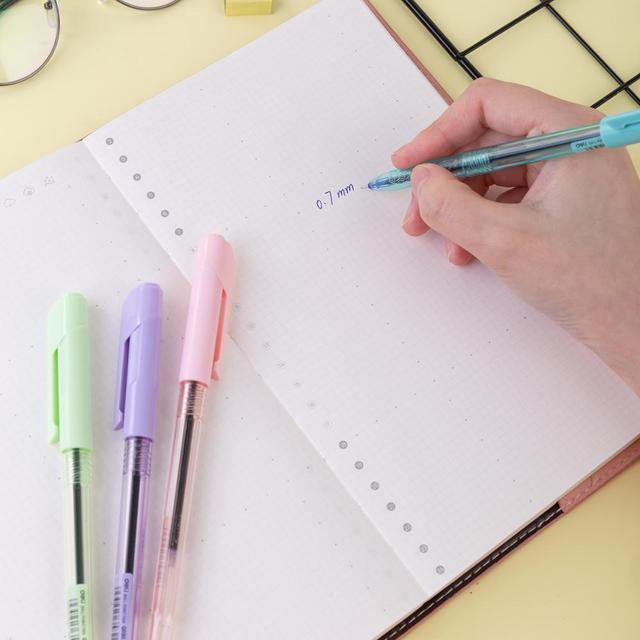 DELI Ball Point Pen 4 Pcs/Bag Color School Ballpoint Pen Mini tip 0.7mm EQ03032 4