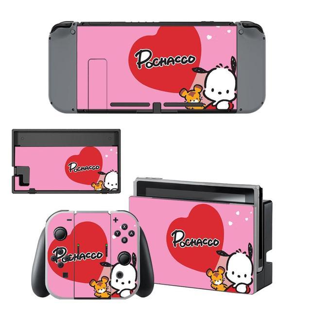 ויניל מסך עור Pochacco כלב מגן מדבקות עבור Nintendo מתג NS קונסולת + שמחה קון בקר + Stand מחזיק עורות