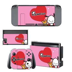 Image 1 - Vinil ekran cilt Pochacco köpek koruyucu çıkartmalar Nintendo anahtarı NS konsolu için + Joy con denetleyici + standı tutucu skins