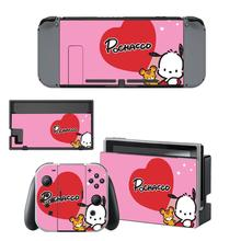 Vinyl Screen Skin Pochacco Dog Protector Stickers for Nintendo Switch NS Console + Joy con Controller + Stand Holder Skins