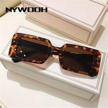 NYWOOH винтажные прямоугольные солнцезащитные очки для женщин леопардовые женские солнцезащитные очки ретро брендовые дизайнерские дорожны...