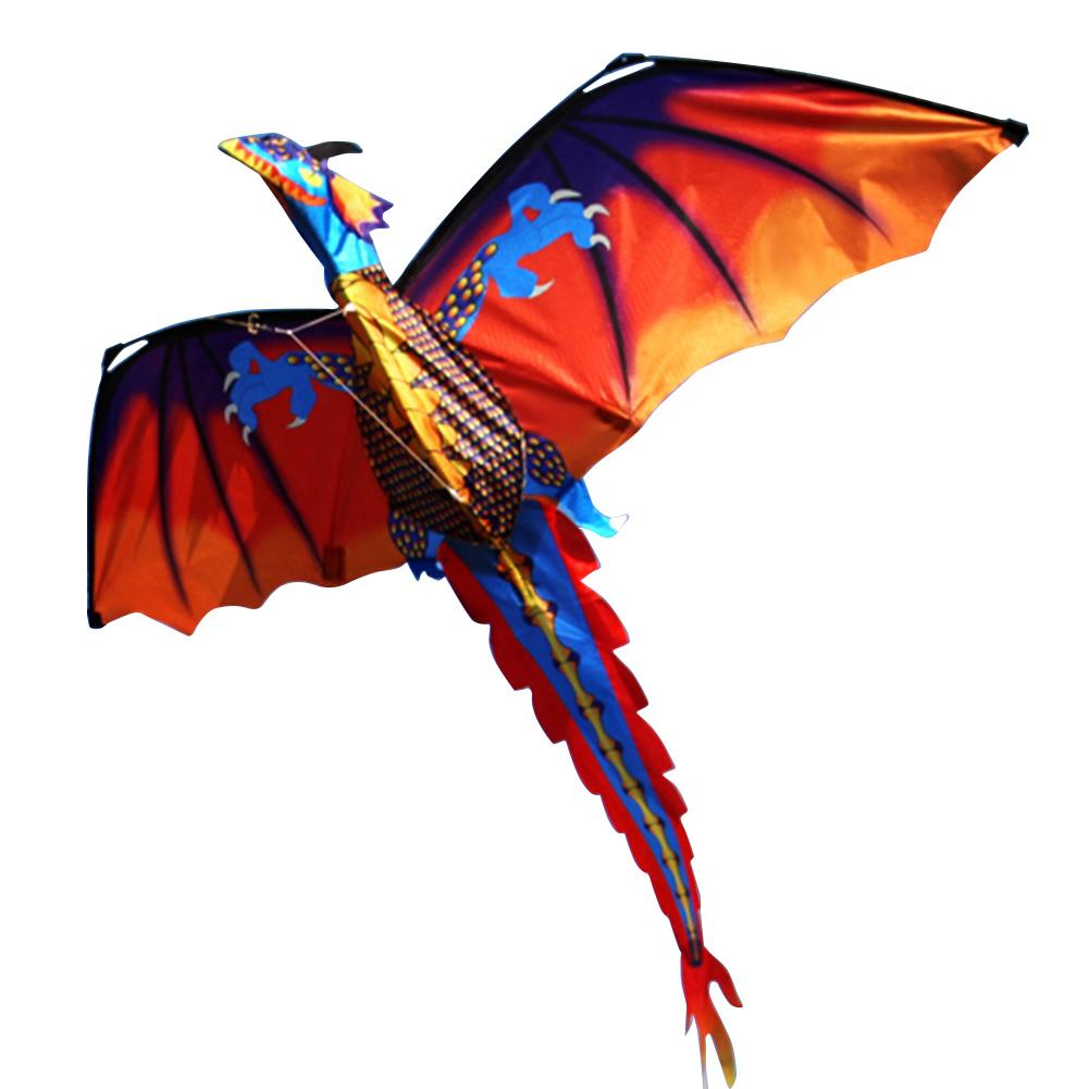 Outdoor Colorful 3D Dragon Flying Kite With 100m Tail Line Children Kids Toys New
