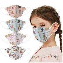 1-12 jahre Kinder Nette Gesicht Masken Mit Druck Staubdicht Wiederverwendung 4-schichten Meltblown-filter Masken Mascsrillas Filtro keine Dekoration