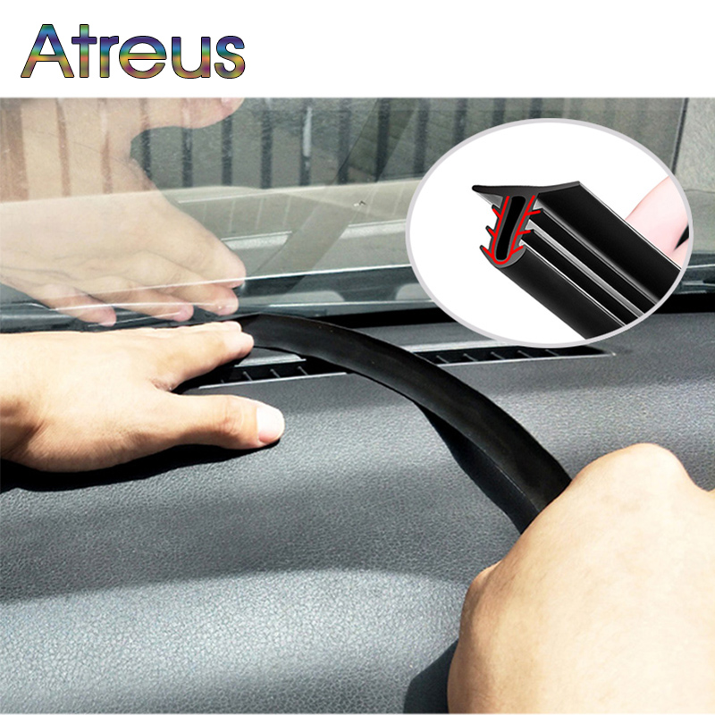 Автомобильные наклейки, уплотнительная лента для приборной панели, звукоизоляционная Резиновая полоса для Toyota, BMW, Audi, KIA, LADA, аксессуары для ...