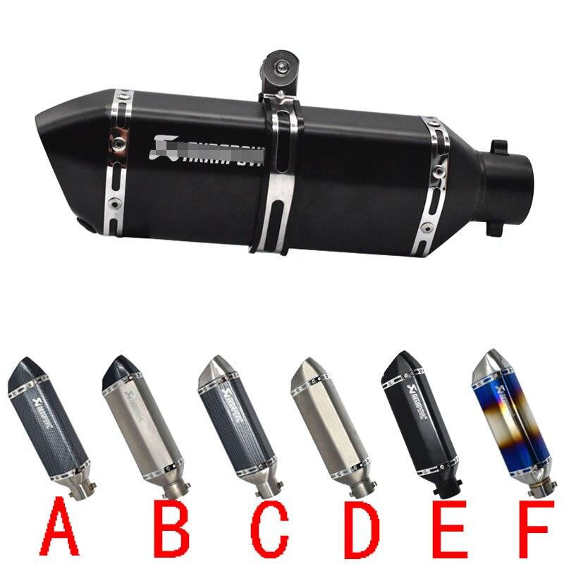 Бесплатная доставка 51 мм akrapovic глушитель для мотоцикла escape moto с дБ убийца выхлопных систем для honda Бенелли msx125 nmax-in Выхлопные трубы и системы from Автомобили и мотоциклы