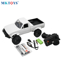 1:16 Scale WPL C24 2.4G DIY RC Car KIT 4WD Remote Control Crawler Off road Buggy Moving Machine Kids Toys