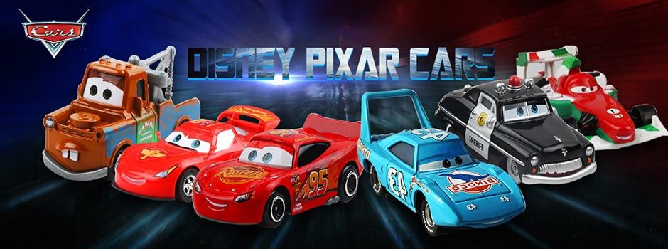 Дисней Pixar Тачки 2 3 игрушки Молния Маккуин Джексон шторм мак грузовик 1:55 литая под давлением модель автомобиля для детей рождественские подарки
