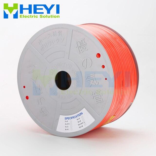 6mm*4mm 180m High pressure Pneumatic Component C category PU Tube 6mm OD 4mm ID Air Line Polyurethane Hose for Compressor