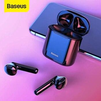 Baseus W09 TWS Wireless Earphone Bluetooth 5.0 Touch Control Earphone Wireless Handsfree Headphones Stereo HD Talking Earphone