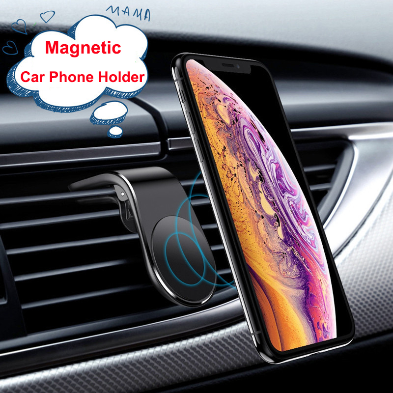 360 Degrees Metal Magnetic Car Phone Holder Stand for iPhone 11 Samsung Car Air Vent Magnet Stand in Car GPS Phone Mount Holder