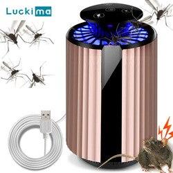 USB elektryczne urządzenie przeciw komarom fotokatalizator przeciw komarom lampa owadobójcza z oczyszczanie powietrza urządzenie odstraszające szkodniki noc światło dla dziecka w Lampy na komary od Lampy i oświetlenie na