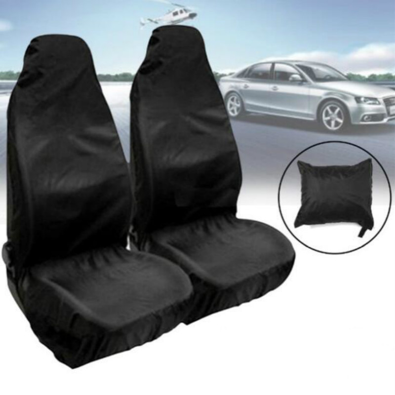 2PCS Car Front Seat Protector Cover Heavy Duty Universal Waterproof Auto Seat Covers Car Seat Cover Breathable Cushion Protector 1