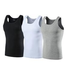 2Pcs 100%Cotton Men's Undershirt Bottoming Shirt Men Casual Top Shirt Soft Breathable Slim Male Undershirt Fitness Sportswear