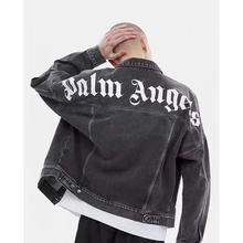 Palm Angels Cowboy Jackets Men Women Windbreaker Coats Streetwear Bomber Camouflage Jeans Hombre Army Jacket