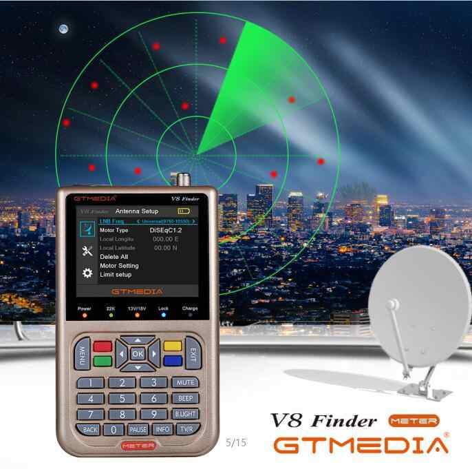 "Gtmedia V8 Finder DVB-S2/S2X Satelliet Meter Finder Satfinder Beter dan Freesat V8 Finder 3.5 ""Lcd-scherm sat Finder"