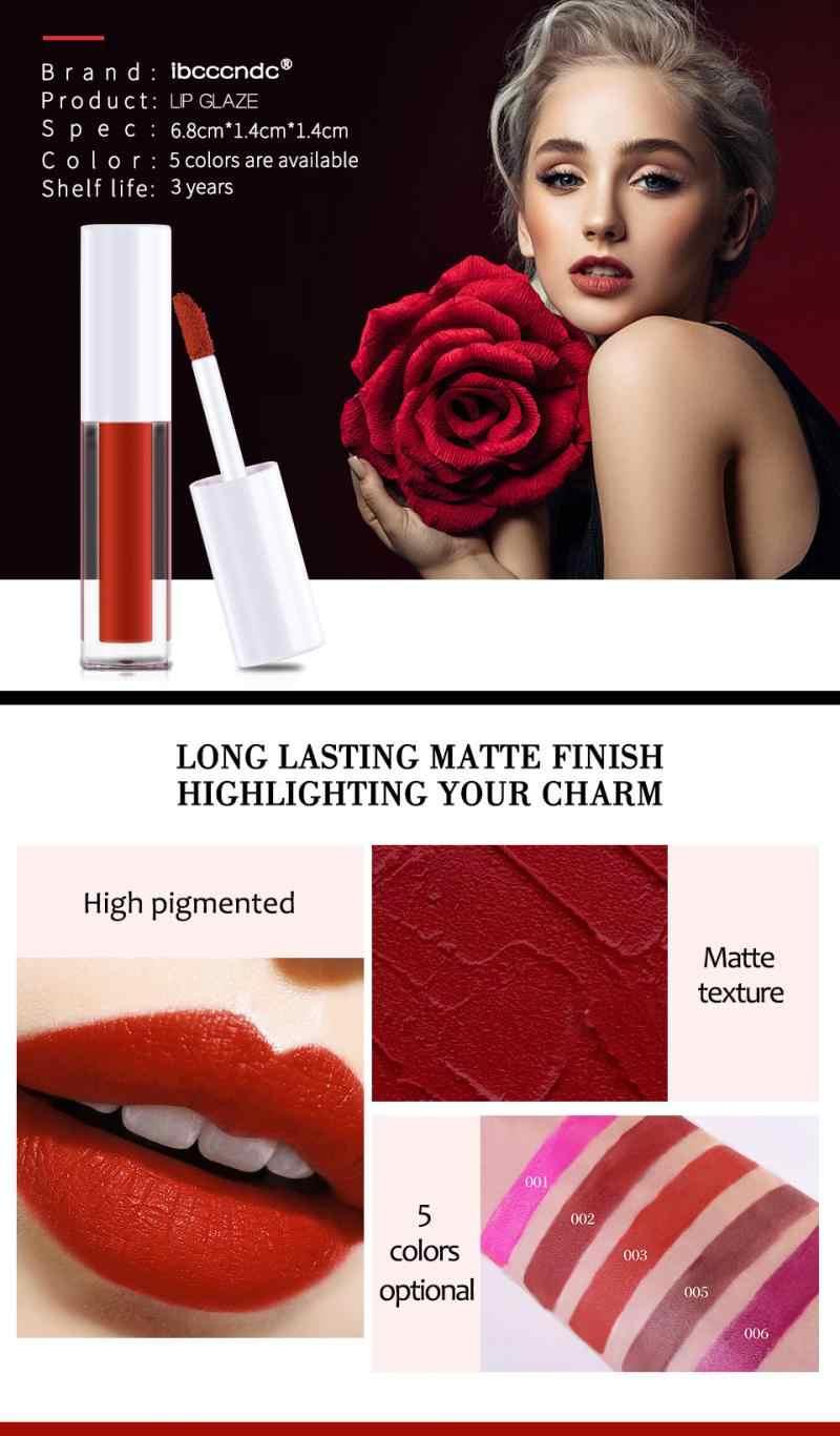 Ibcccndc 5 Kleuren Nacht Demon Wijn Rode Mousse Matte Lipgloss Natuurlijke Hydraterende Langdurige Non-Fading Lip glazuur TSLM2