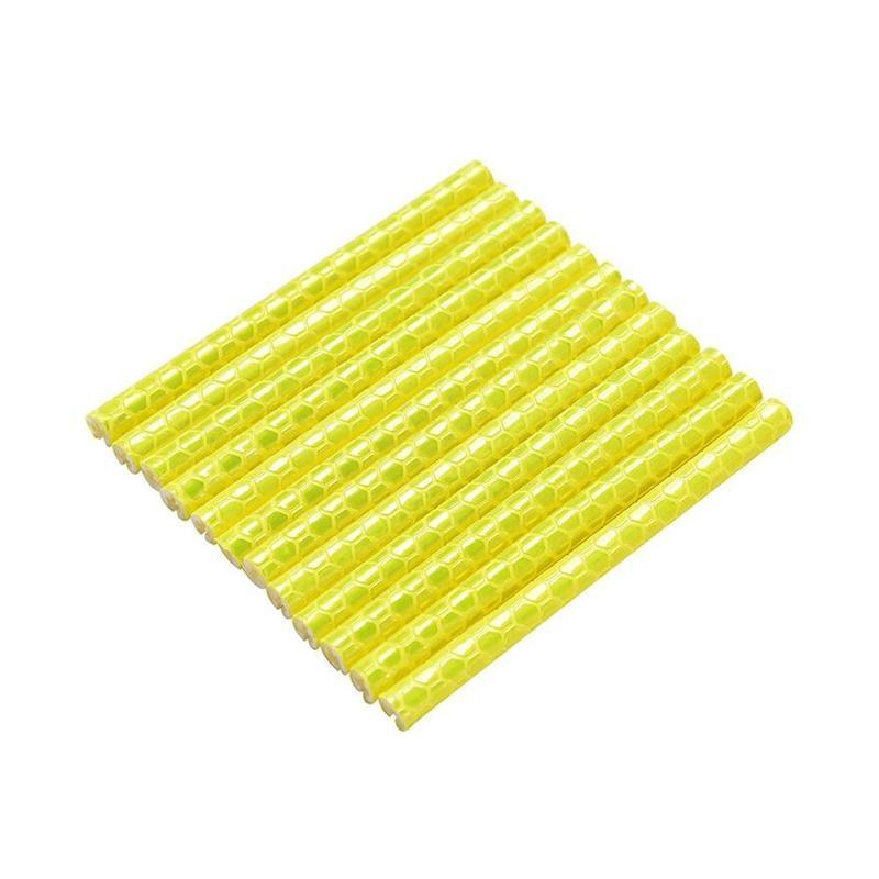 12 шт. Велосипедное колесо спиц отражатель светоотражающее крепление Предупреждение ющий зажим полосы R8M5 - Цвет: yellow
